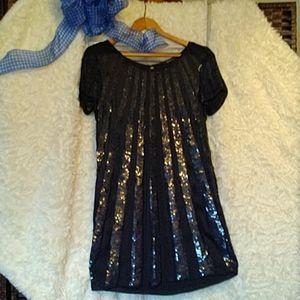 French Connection Sequin Mini Dress  Sz 6
